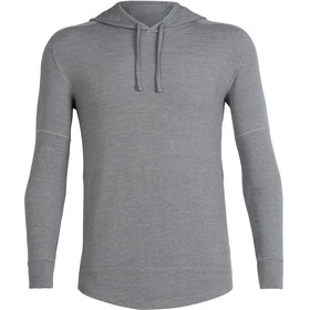 Icebreaker Momentum LS Hood Men fossil/snow heather